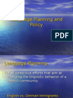 Planning and Policy