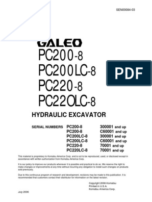 PC200-8 SEN00084-03 pdf | Valve | Internal Combustion Engine