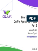 Oquma - How to Keep Your Quality Agenda Up to Date - Part 2