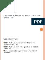 Deposit Scheme Analysis of Exim Bank