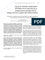 Comparacion de Metodos Mulicriterio AHP y AHP Difuso