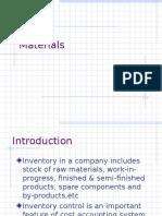Materials Planning & Control