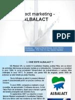 Proiect Marketing - ALBALACT