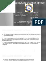 Conjugant Gradient Method (1)