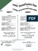 Klassische Klavierwerke aus Hans von Bülow's Concertprogrammen = Classical pianoforte pieces  revidirt und mit genauen Fingersatz- und Vortragsbezeichnungen herausgegeben von Hans von Buelow.book 1