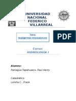 Hidrología Parámetros Fisiográficos Paul Paniagua