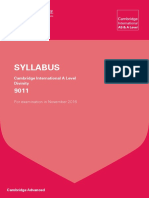Cambridge Div Syllabus