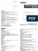 Yealink SIP-T21P Quick Reference Guide V71 70