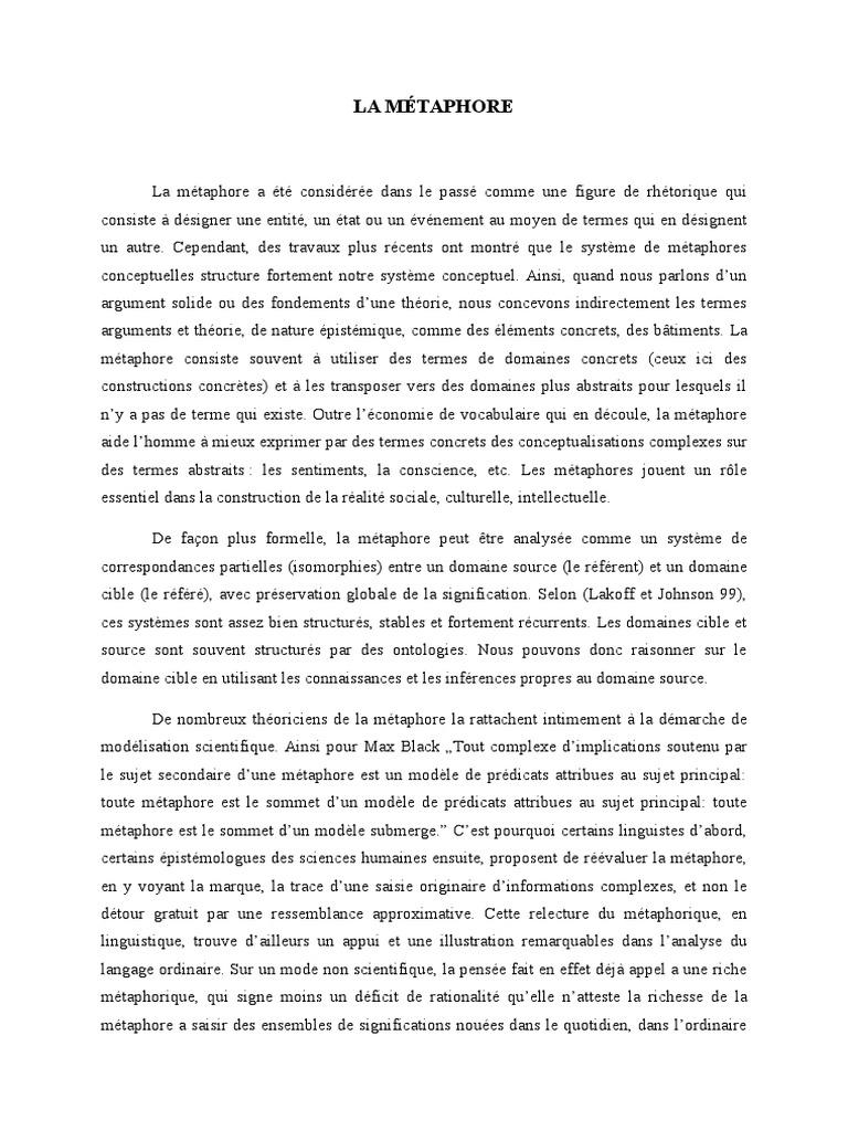 La metaphore | Métaphore | Traductions