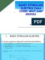 Basic Stimulasi Elektris Pada Nyeri Akut Dan Kronis