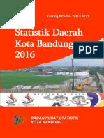 Statistik Daerah Kota Bandung 2016