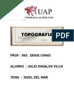 TOPOGRAFIA - Tema Nivel Del Mar