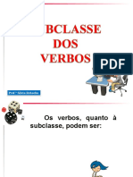 Subclasse Dos Verbos
