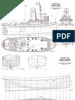 Steam Tug Archer Scaled 950mm