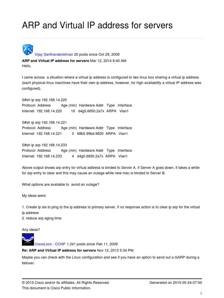viparp | Ip Address | Server (Computing)
