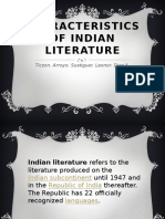 characteristics of indian literature