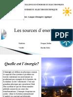 les sources d `energie