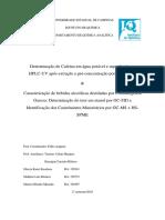 Relatório QA416 Separações Analíticas
