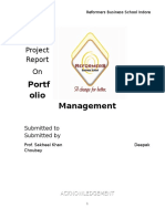 44644432 a Project Report on Portfolio Management by