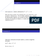 Slides - Teoremas da Função Implícita, Teoremas do Valor Médio e Fórmula de Taylor