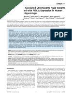 Atrial Fibrillation Associated Chromosome 4q25 Variants