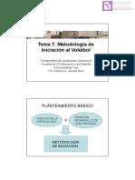 Tema 7 Metodología de Iniciacion Al Voleibol