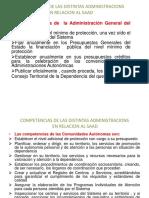 Competencias Administracions e Organos Asesores Saad