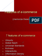 Features of E-commerce