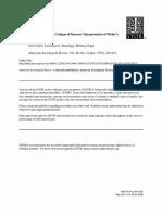 COHEN, J.; HAZELRIGG, L. E.; POPE, W. de-Parsonizing Weber a Critique of Parsons Interpretation of Webers Sociology