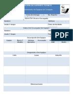 Formato Para Bitacora de Soporte Técnico