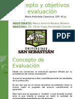 Concepto y Objetivos de La Evaluacion
