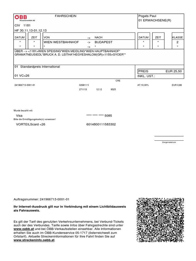 Oebb Ticket Sampler