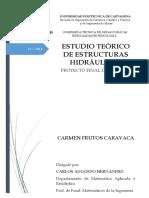 Estudio Teorico de Estructuras Hidraulicas