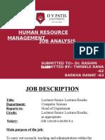 Job Description & Specification.