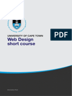 Uct Foundations of Web Design Course Information Pack