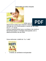 Atividades Para Estimular Bebês Em Creches e Berçários