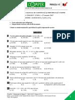 Subiect Matematica EtapaI 2016 2017 ClasaIV