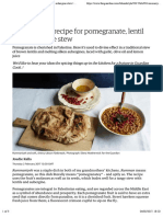 A Palestinian recipe for pomegranate, lentil and aubergine stew | Cook residency | Life and style | The Guardian