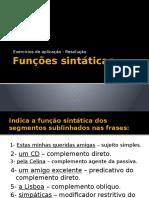 Funções sintáticas - resolução