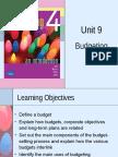 ACCT 2105 Unit 9 - Budgeting