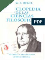 Hegel - Enciclopedia de Las Ciencias Filosóficas