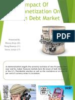 Impact of Demonetization on Indian Debt Market