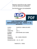 Los Puentes Mas Importantes Del Mundo y Del Perú