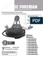 360 Foreman Grill - Use and Care Manual