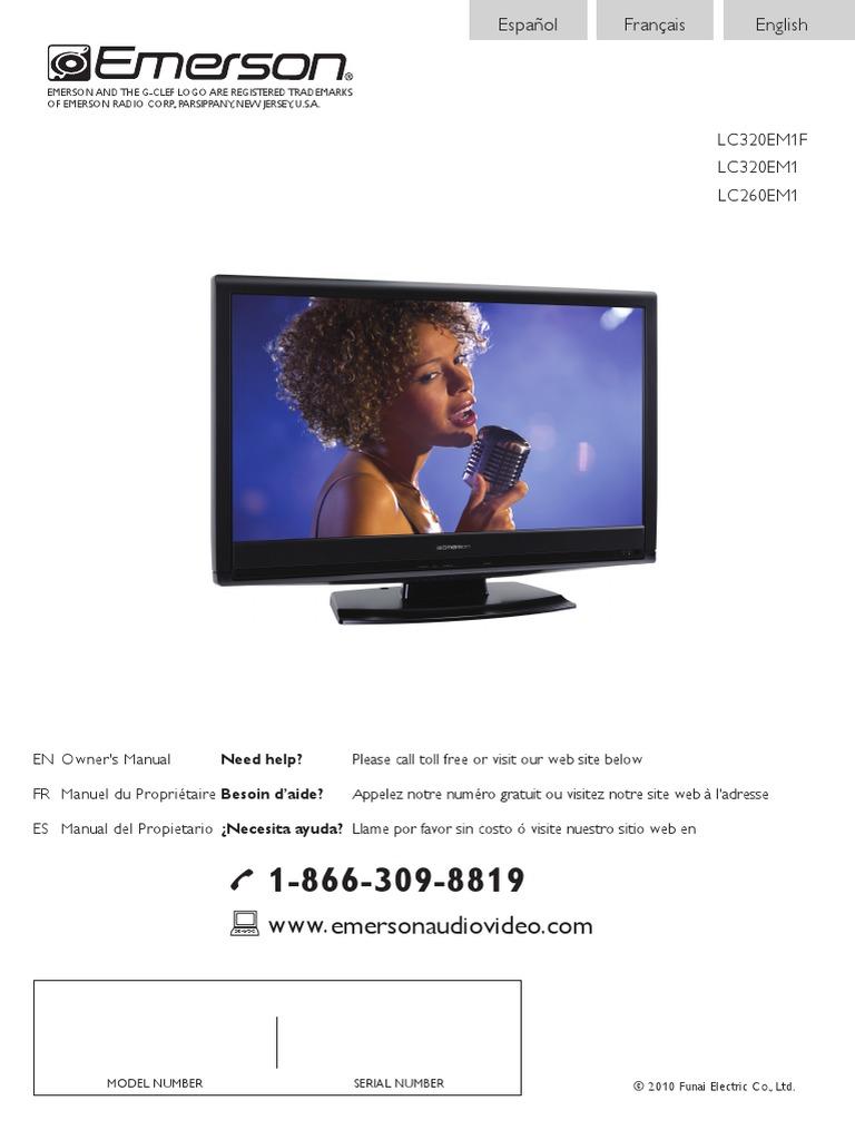 emerson lc320em1 tv user manual hdmi television rh scribd com