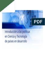 Introducción a Las Políticas en Ciencia y Tecnología de Paises en Desarrollo