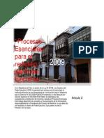 Procesos Esenciales para el Rediseño del Poder Ejecutivo
