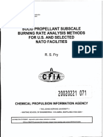 SP Subscale Burn Rate Analysis Methods