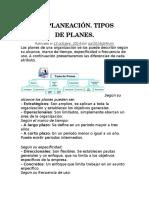 Plan y Los Tipos de Planes