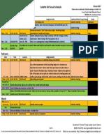cadettes winter 2017 schedule